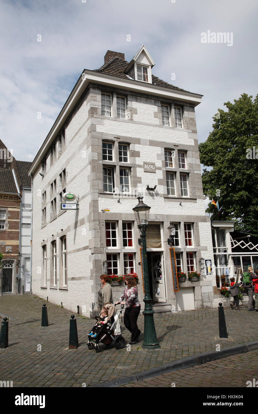 Old house, Maastricht, Limburg, Netherlands, Europe - Stock Image