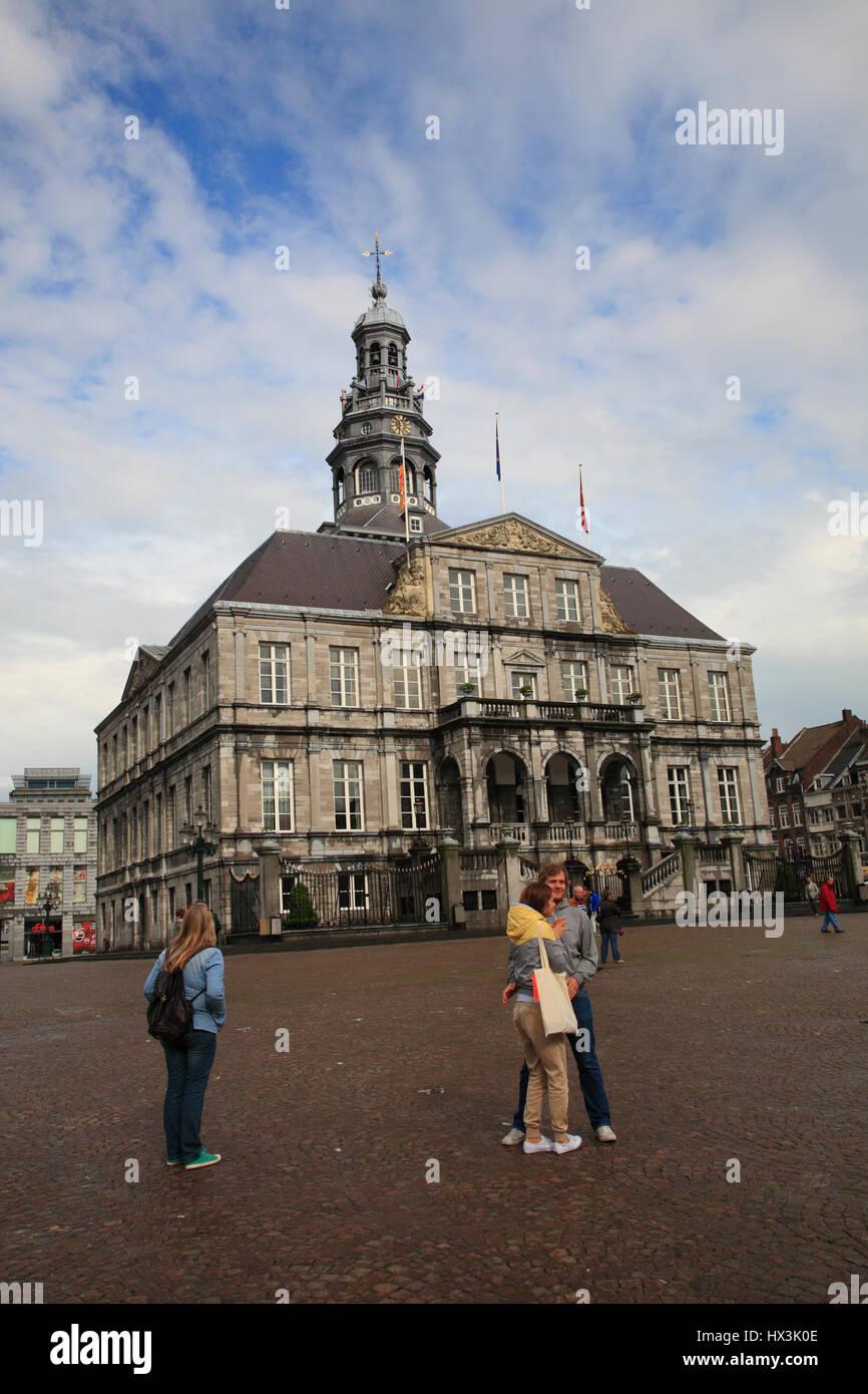 Town hall, Maastricht, Limburg, Netherlands, Europe - Stock Image