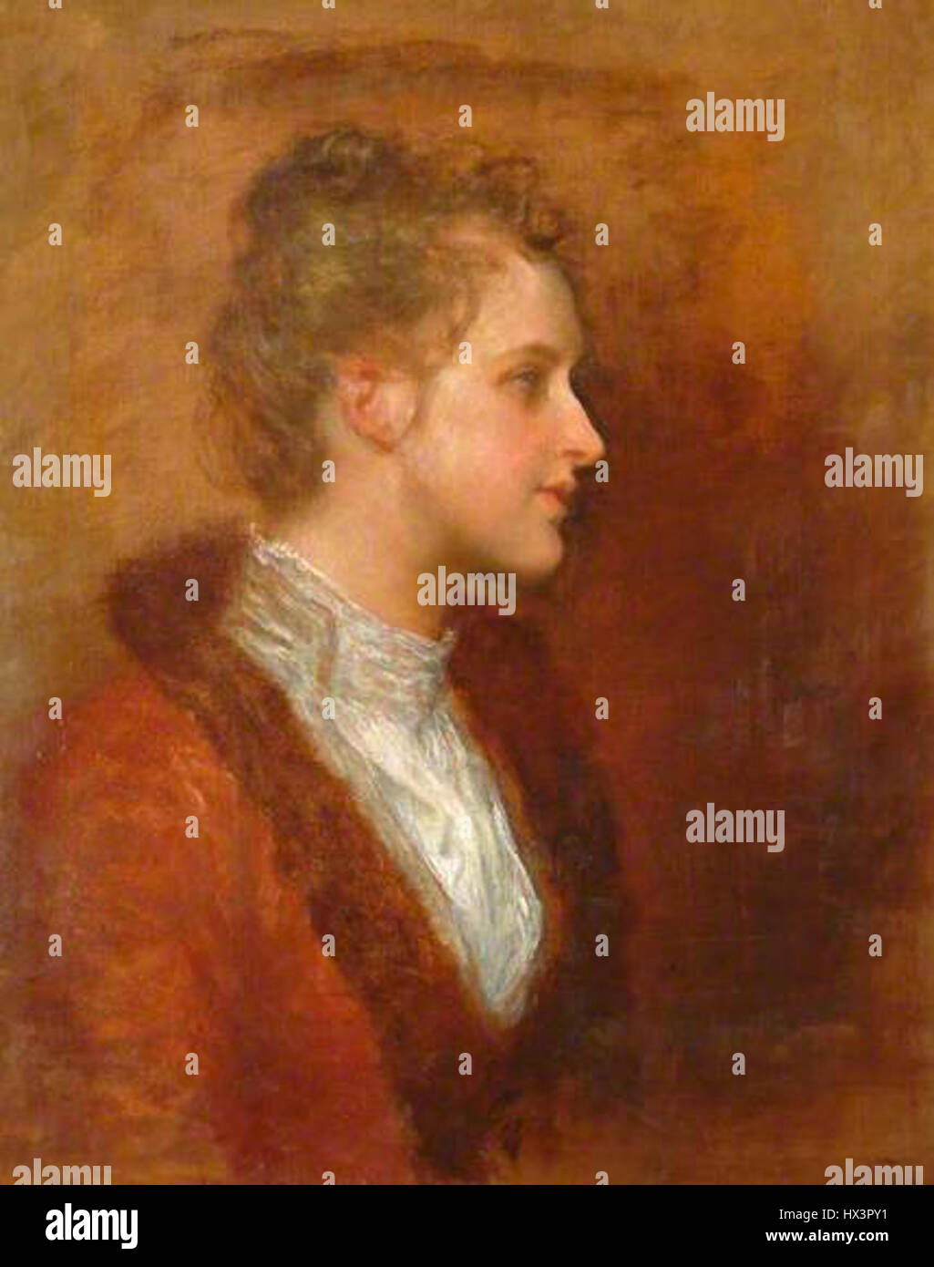 Lila Prinsep by George Frederic Watts Stock Photo