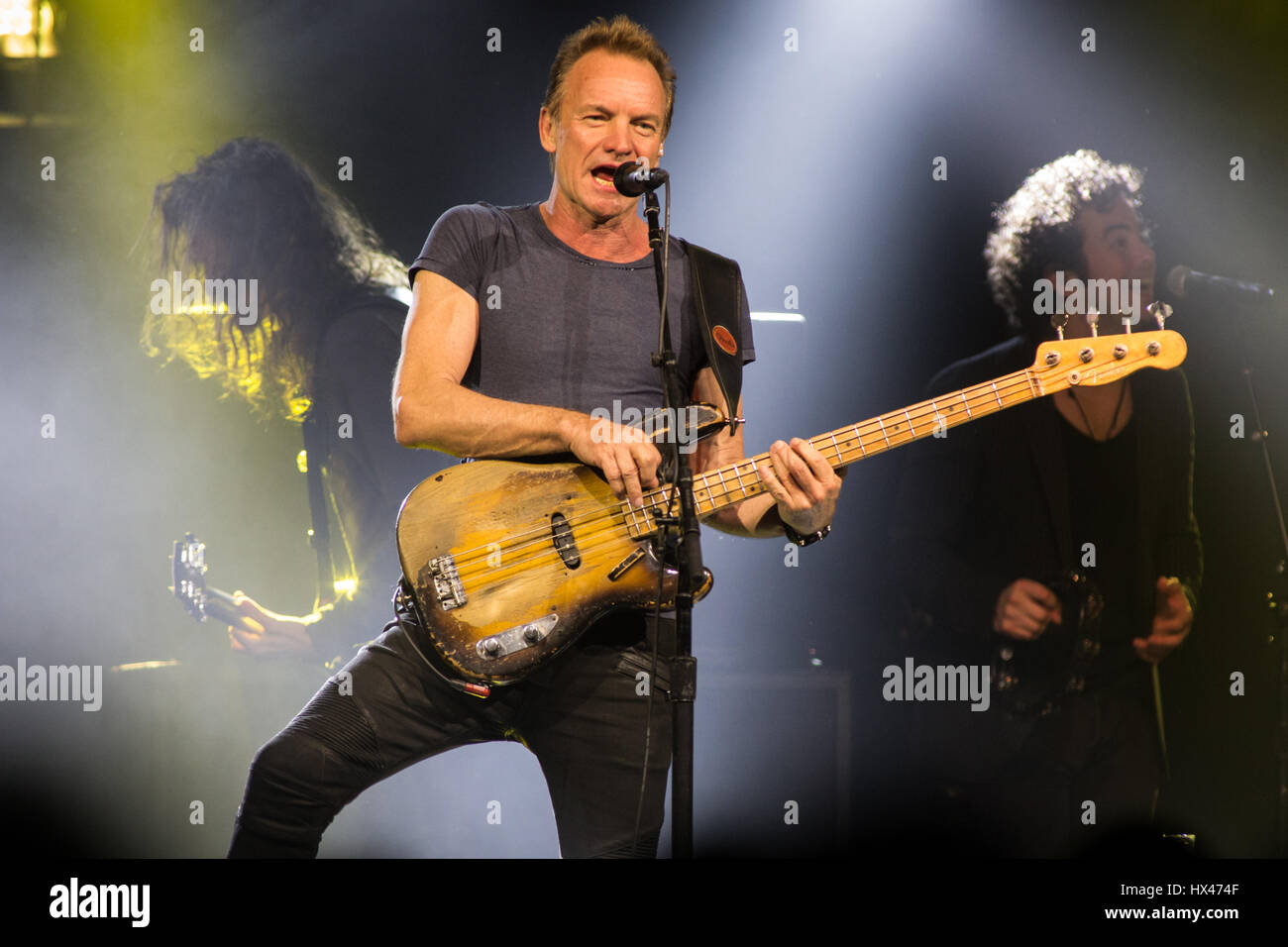 Milan Italy. 23th March 2017. The English singer-songwriter and actor STING performs live on stage at Fabrique during - Stock Image