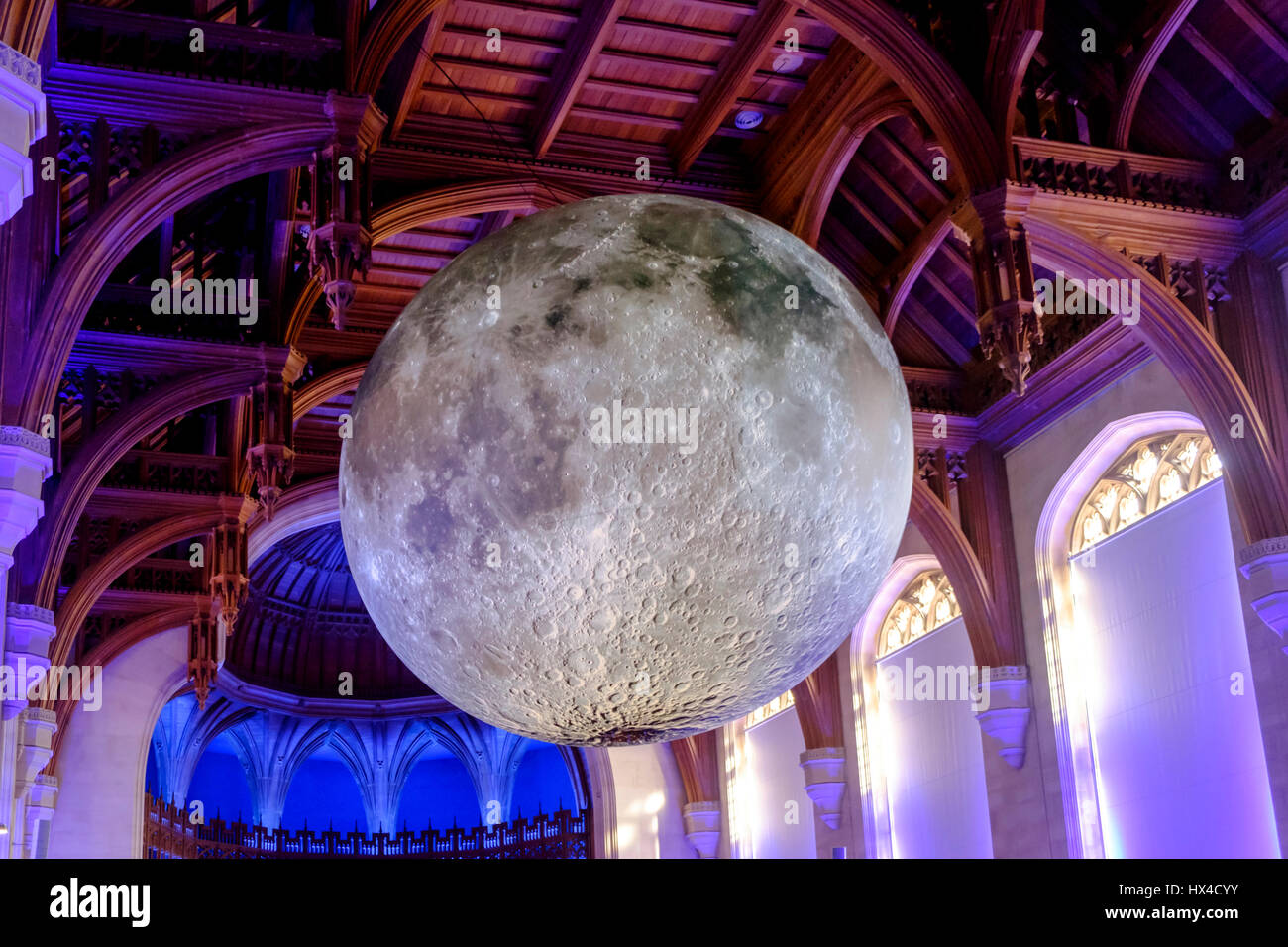 Bristol, UK. 25th March 2017. Hanging in the main hall of the Wills Building of Bristol University, the Museum of - Stock Image
