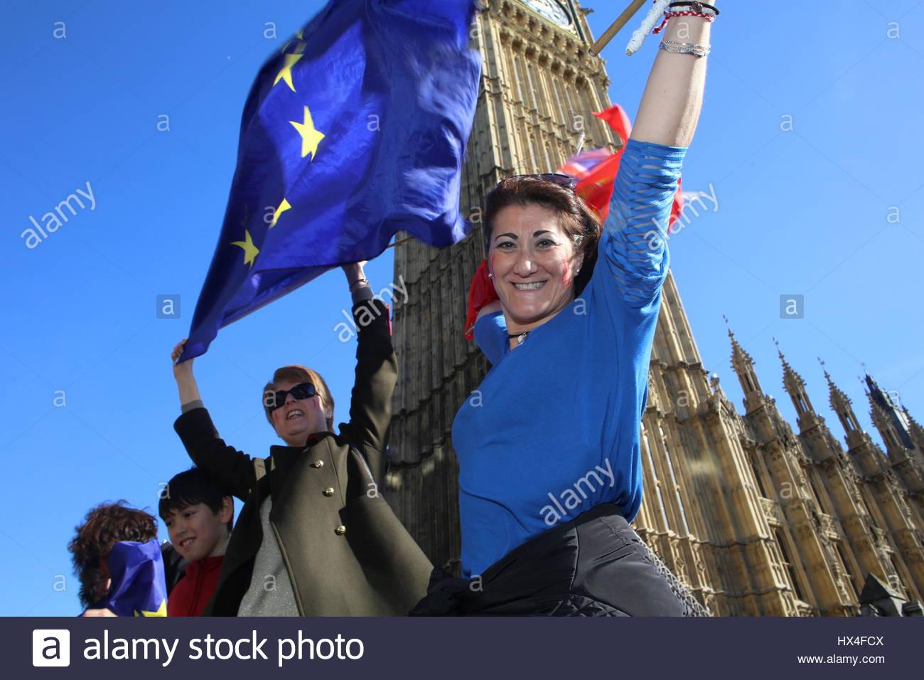 Anti-Brexit rally - Stock Image