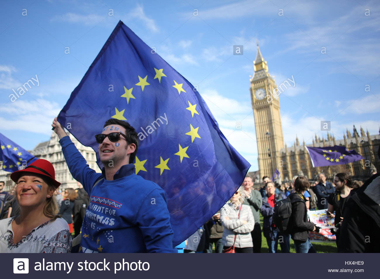 London, UK. 25th Mar, 2017. Unite for Europe rally, London, Great Britain Credit: reallifephotos/Alamy Live News - Stock Image