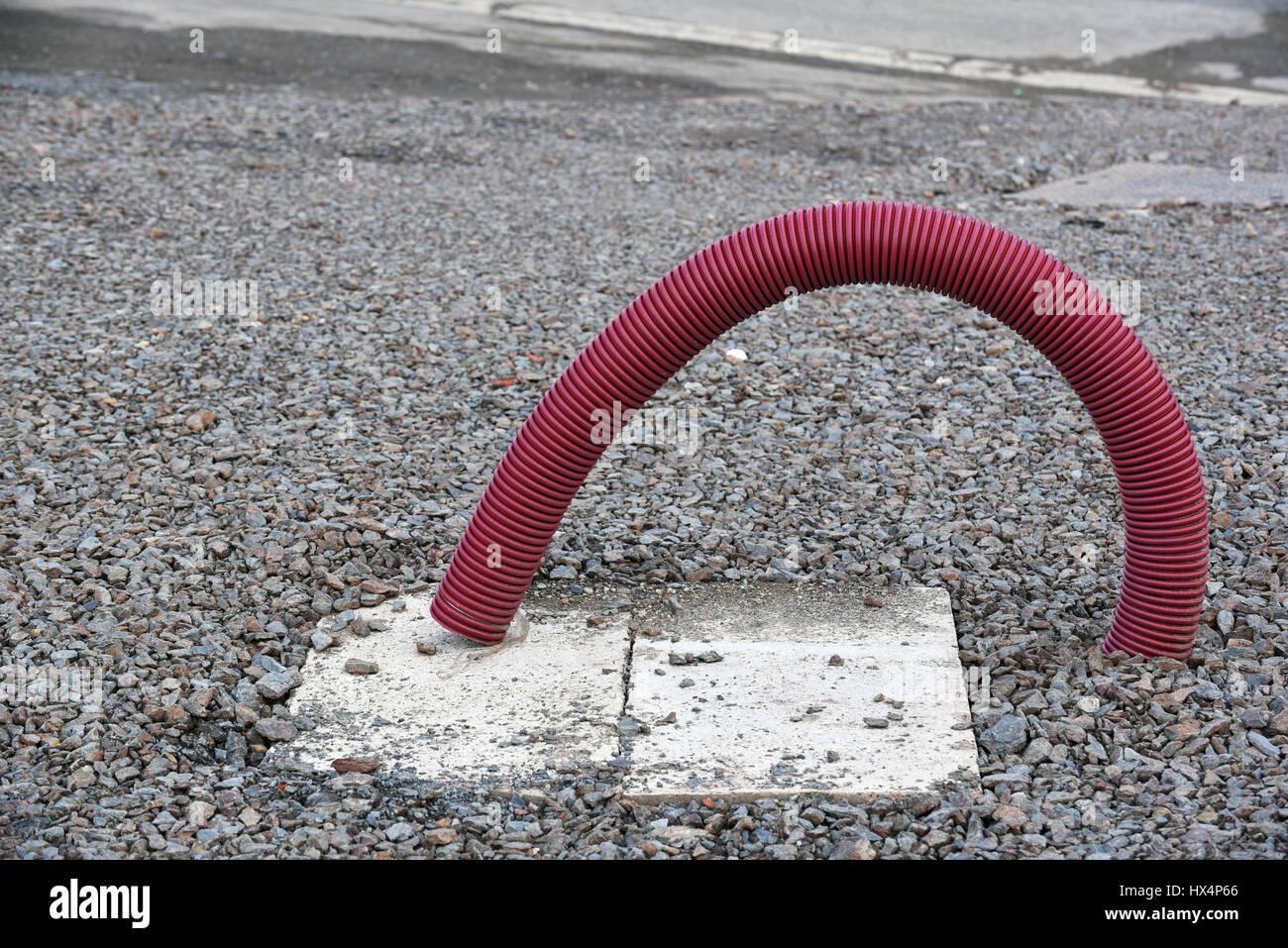 Flexible PVC hose - Stock Image