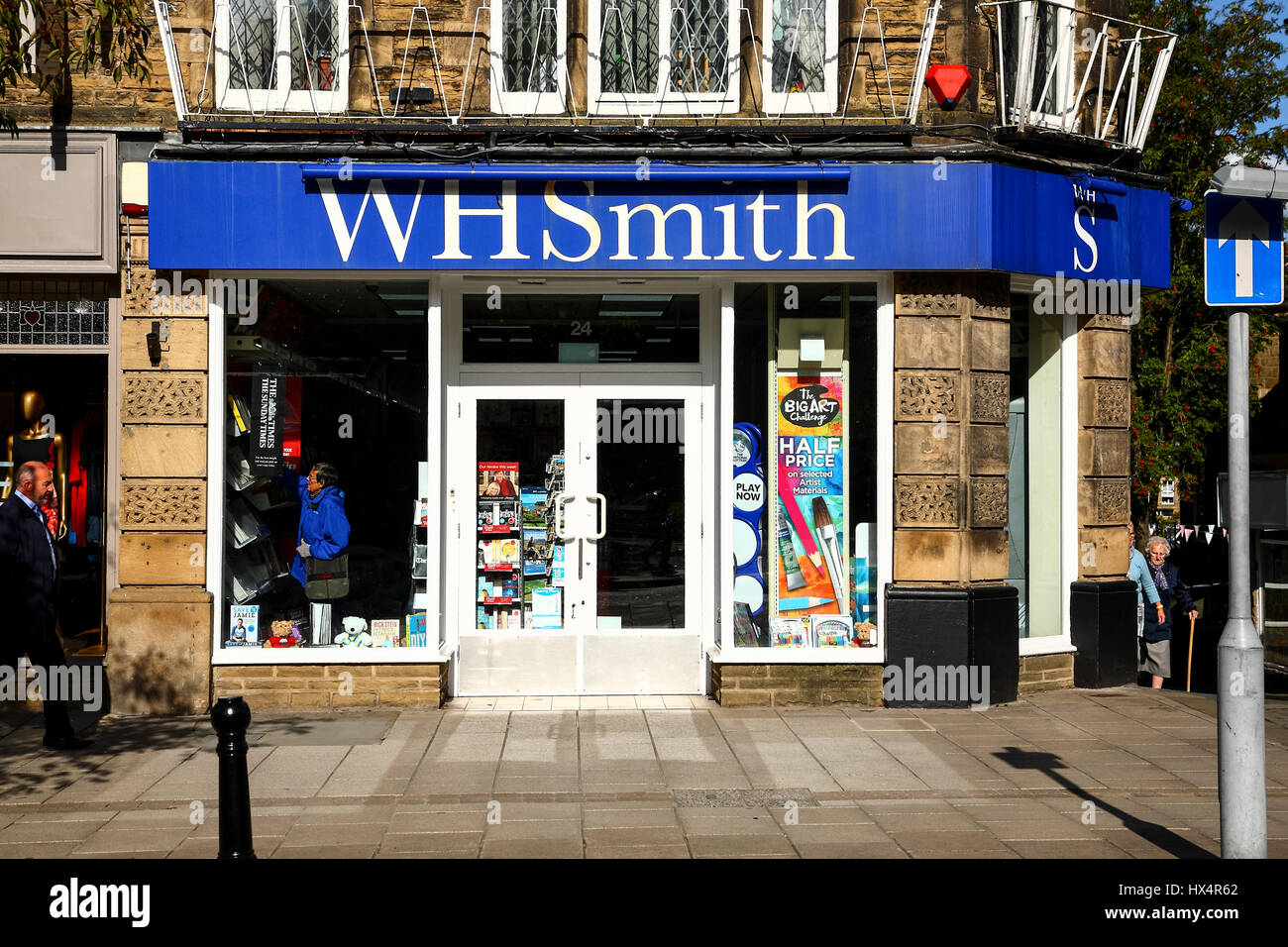 Stationary shopping stock photos stationary shopping stock images ilkley yorkshire local branch of wh smith stationary and news vendors stock image solutioingenieria Choice Image
