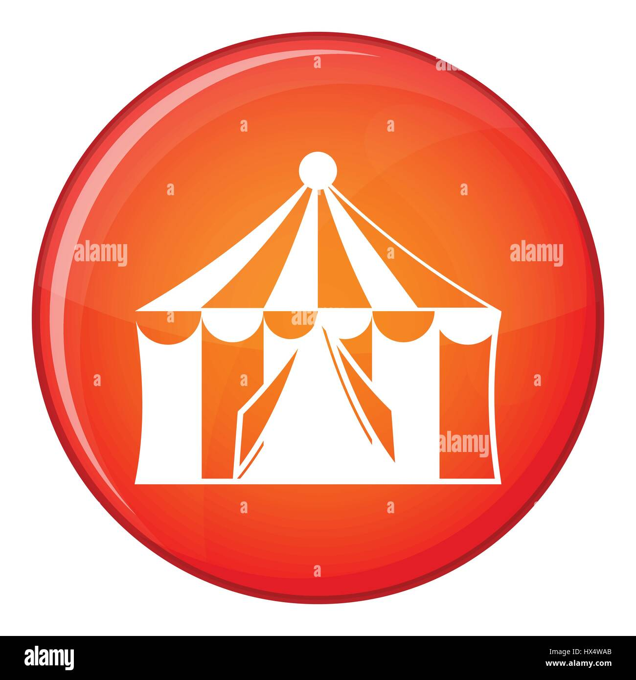 Circus tent icon, flat style - Stock Image