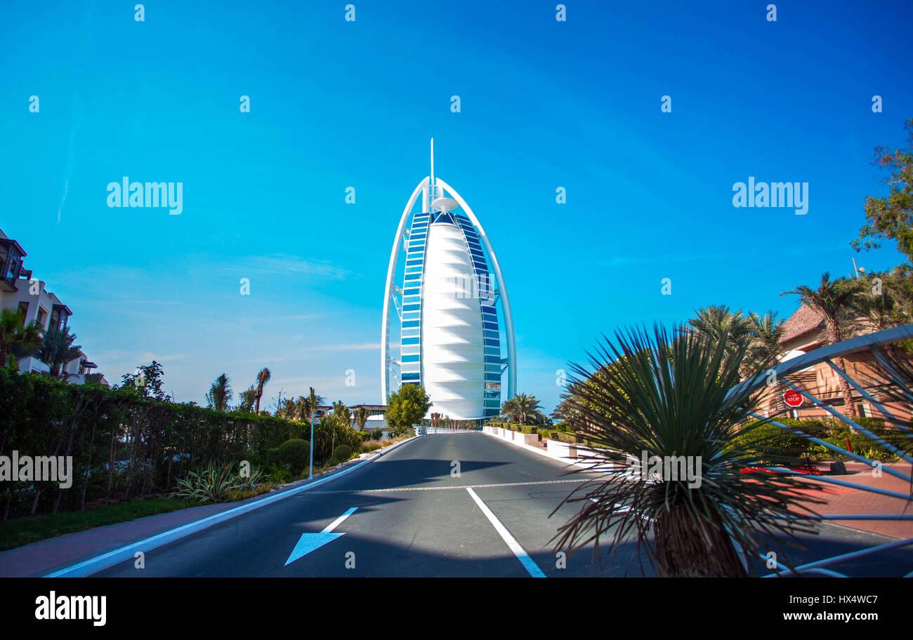 Burj Al Arab in Dubai, United Arab Emirates - Stock Image