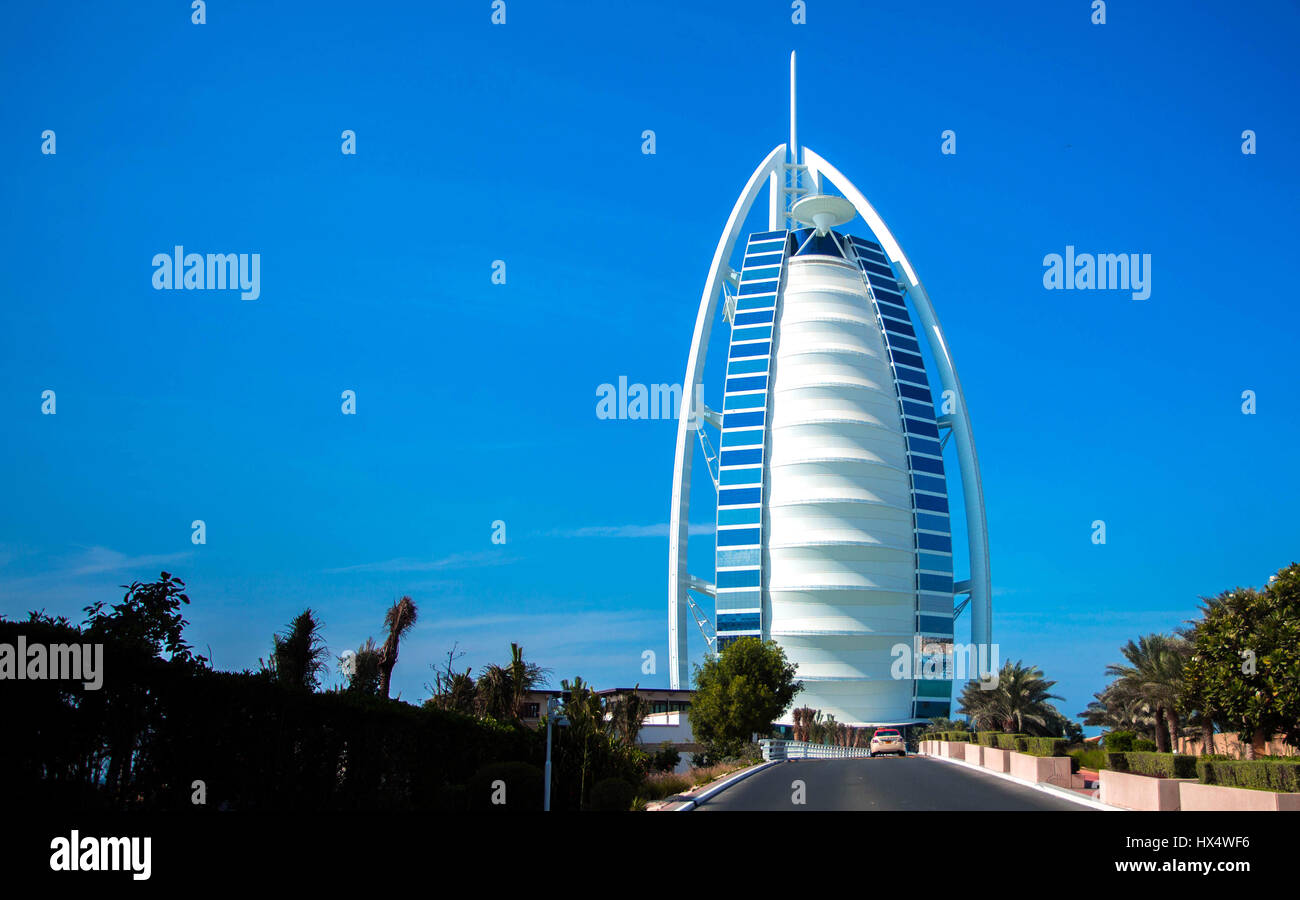 Burj Al Arab in Dubai, United Arab Emirates - Stock Image
