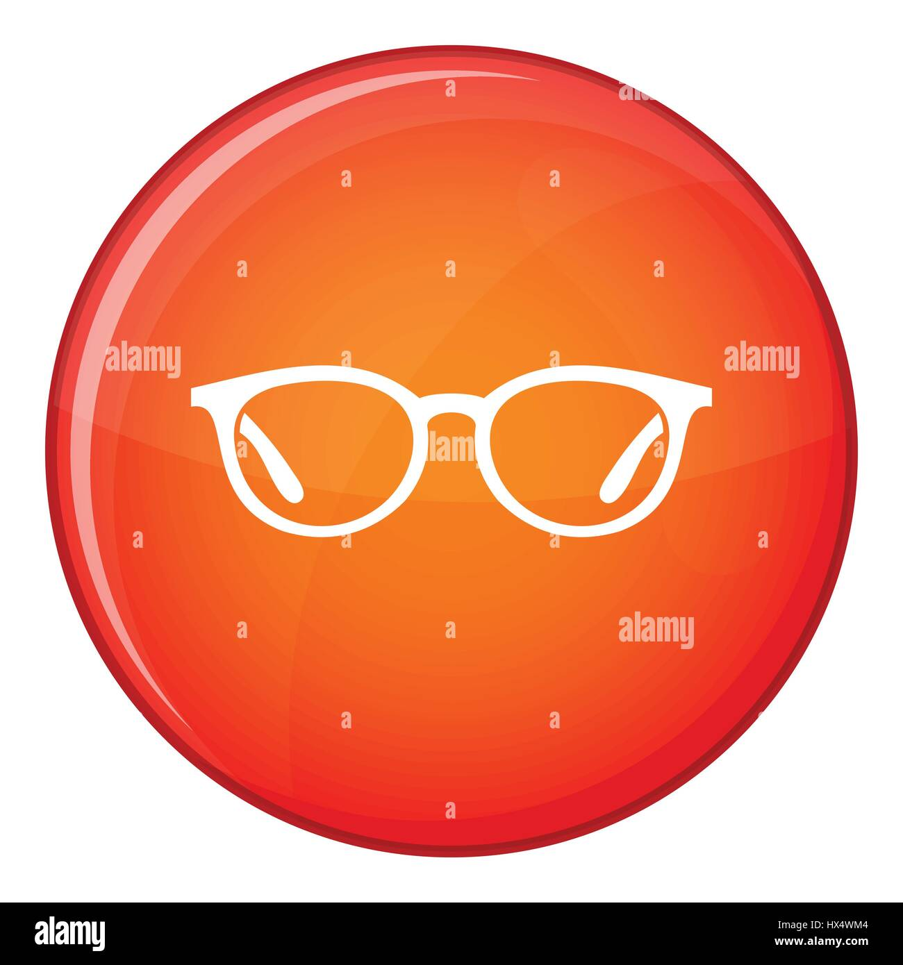 Glasses icon, flat style - Stock Vector