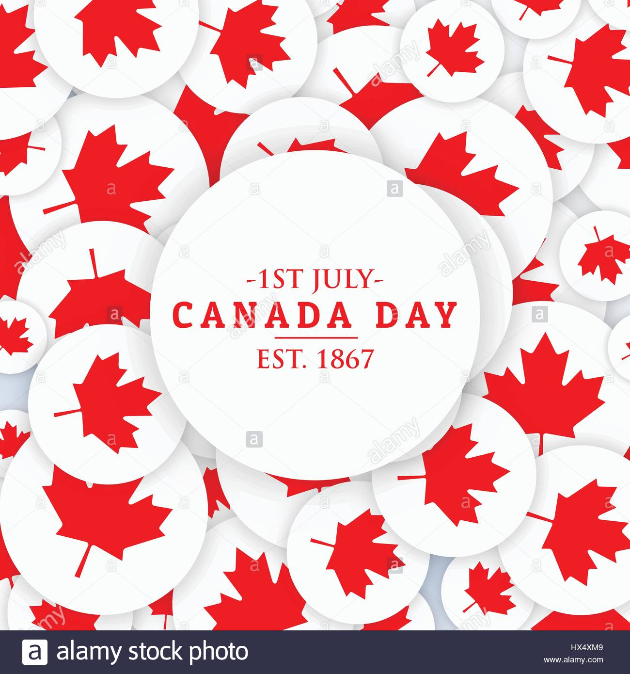 1st july canada day background - Stock Vector