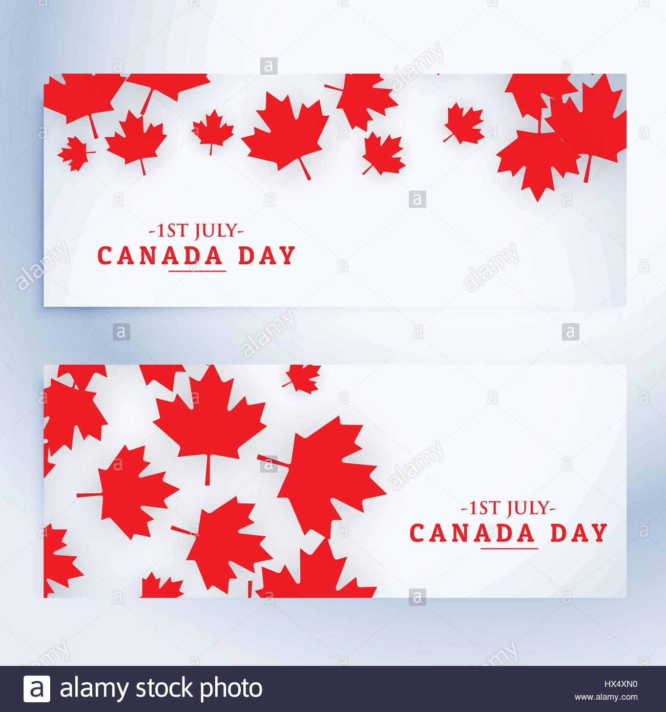 1st july canada day banners - Stock Vector