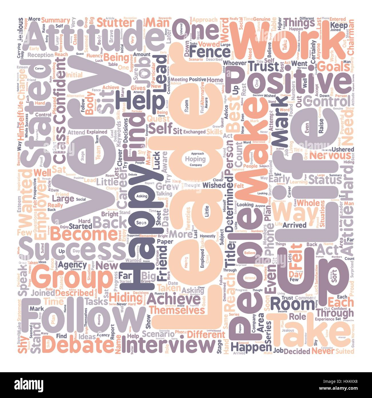 Be A Leader Not A Follower Text Background Wordcloud Concept Stock