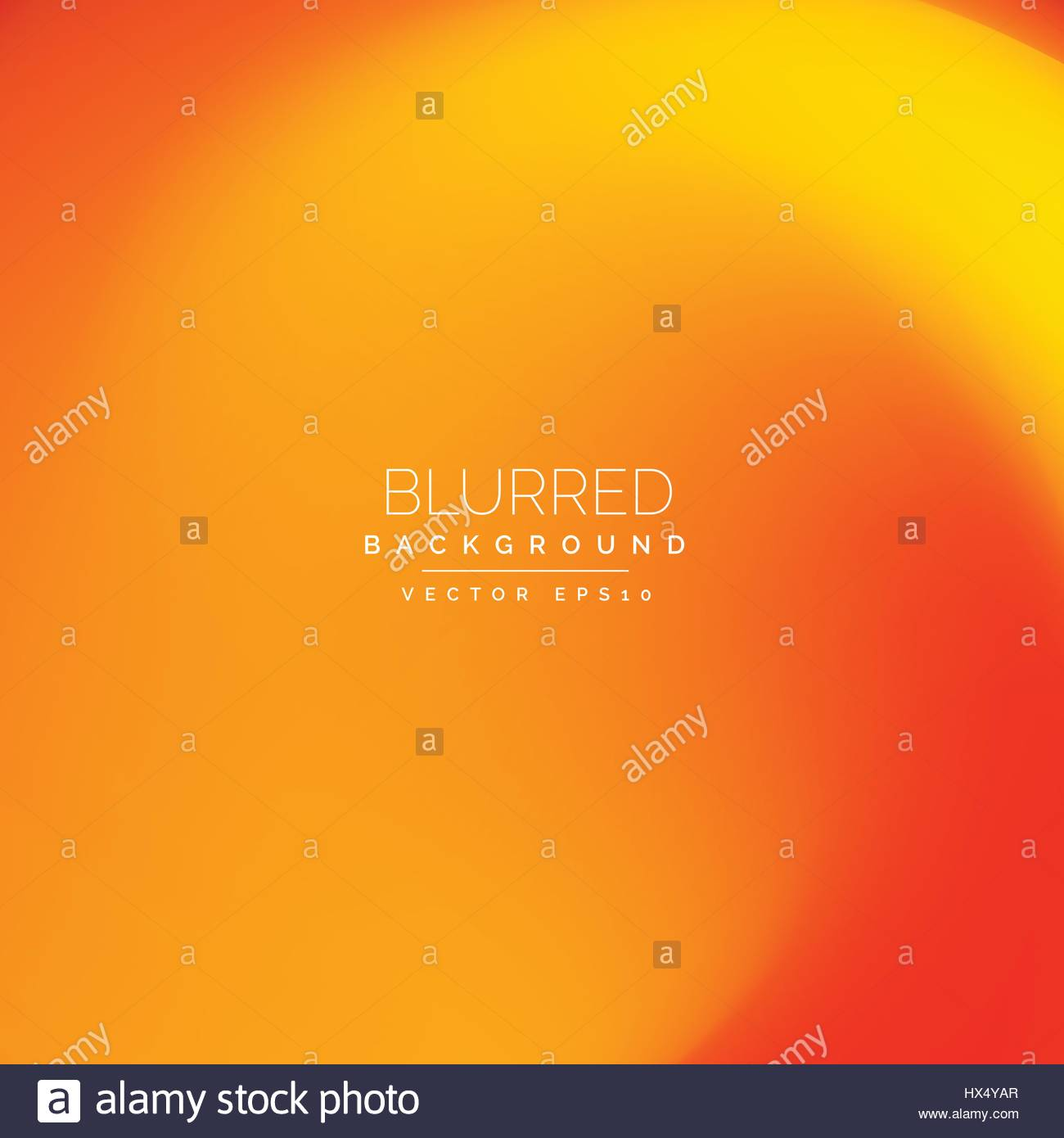bright ornage blurred background - Stock Image