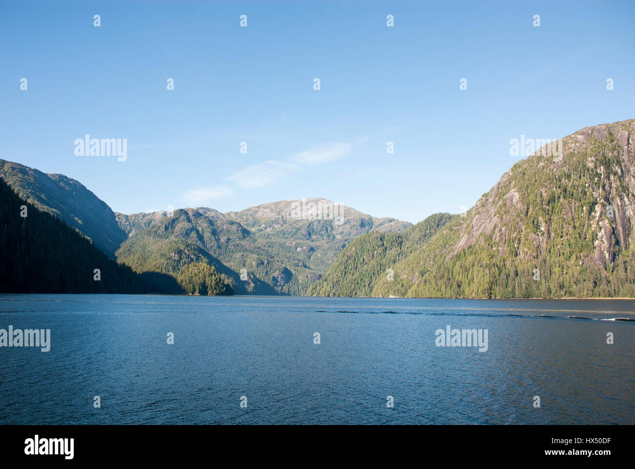 Misty Fiords National Monument (or Misty Fjords National Monument) is a national monument and wilderness area administered - Stock Image