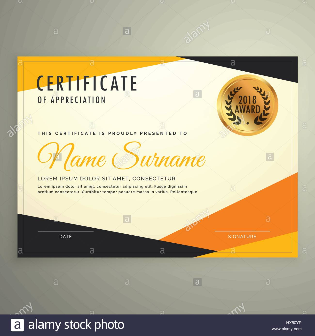 Certificate design template with clean modern orange and black certificate design template with clean modern orange and black shapes altavistaventures Image collections