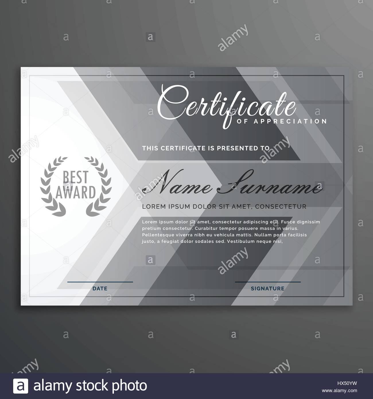 elegant gray certificate design diploma template Stock Vector Art ...