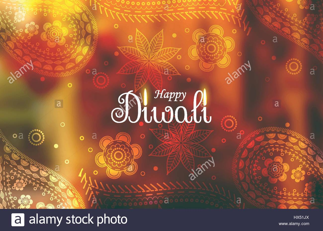 awesome diwali wallpaper background with paisley pattern Stock Vector