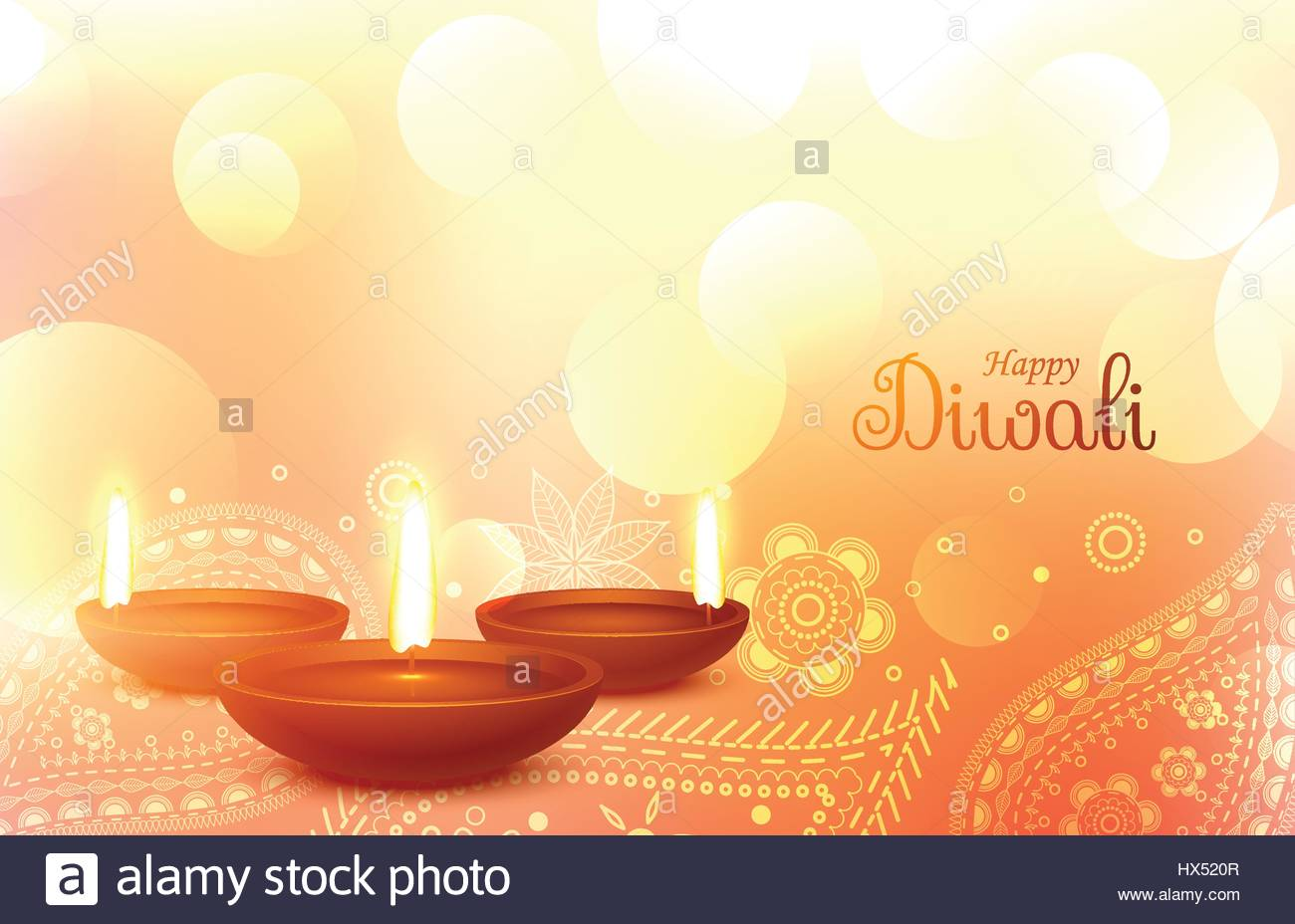 beautiful diwali wallpaper with paisley art stock vector art