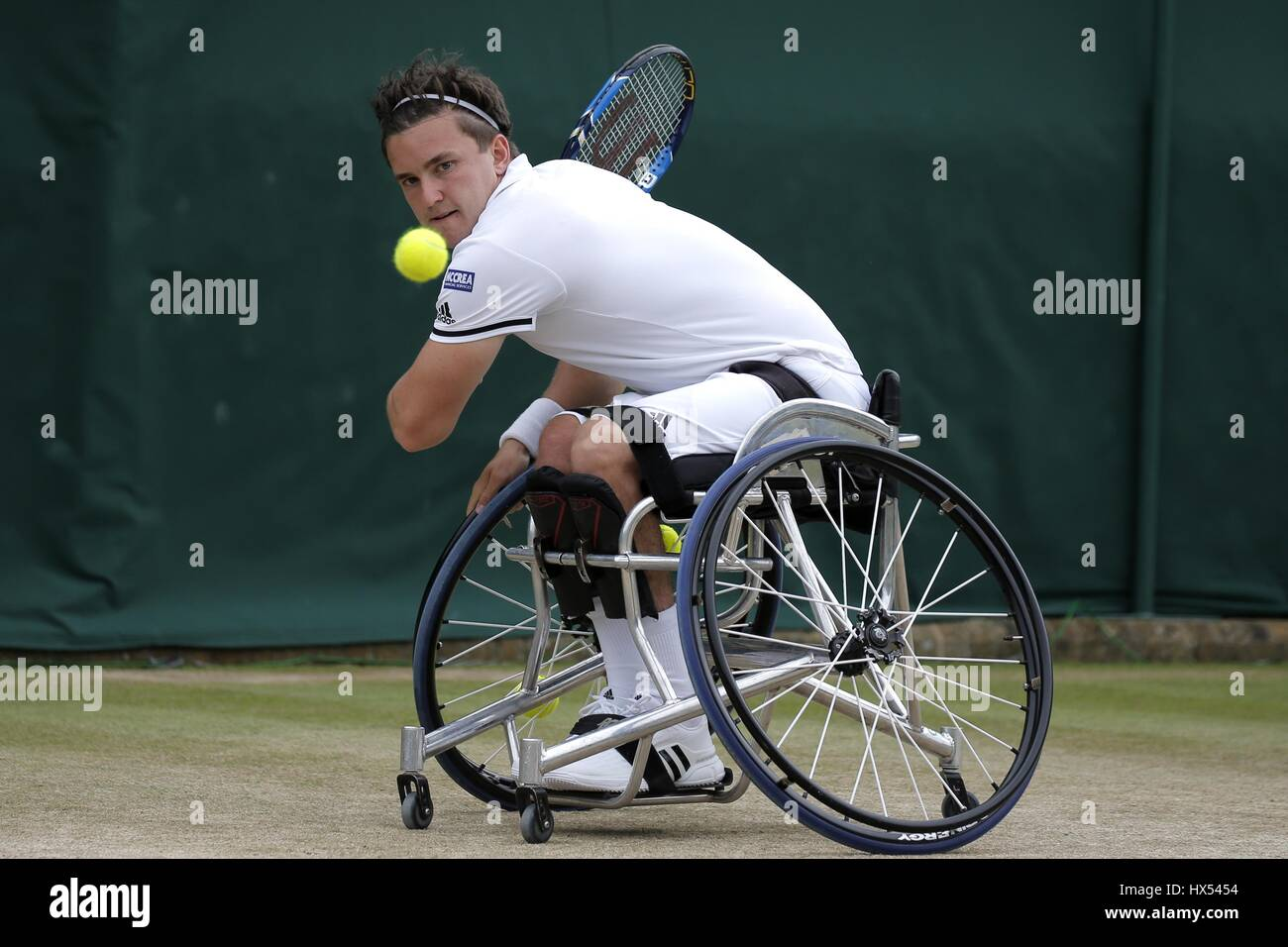 GORDON REID GENTLEMEN'S WHEELCHAIR SINGLES FINAL GENTLEMEN'S WHEELCHAIR SINGLES THE ALL ENGLAND TENNIS CLUB - Stock Image