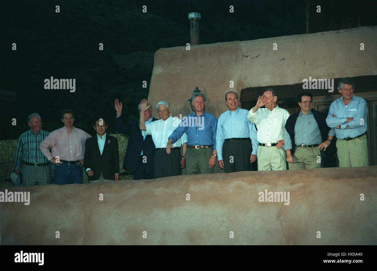 DENVER SUMMIT OF THE EIGHT GROUP PHOTO OF LEADERS 17 July 1997 - Stock Image