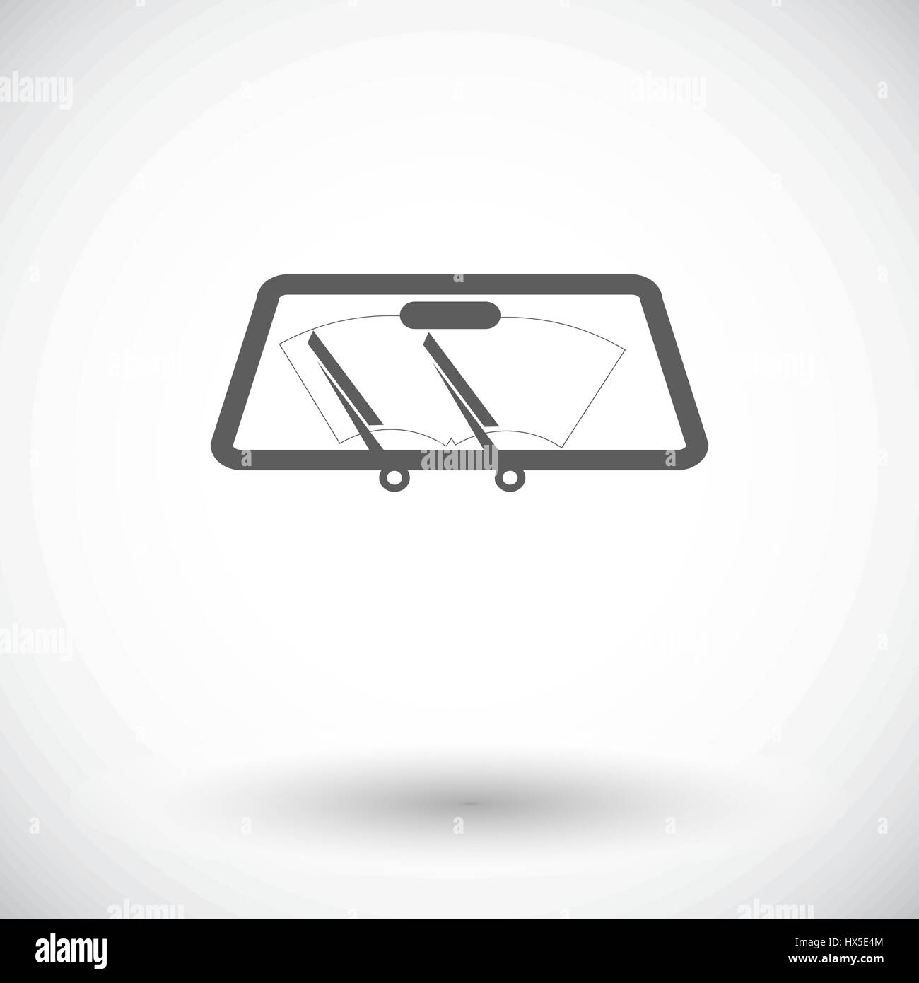 Single Wiper Car Stock Photos Images Alamy Wipercar Wiring Diagram Flat Icon On White Background Vector Illustration Image
