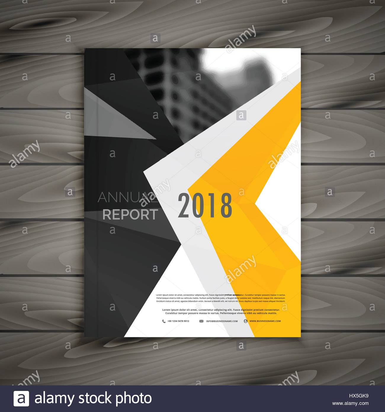 abstract business brochure template annual report cover page in a4