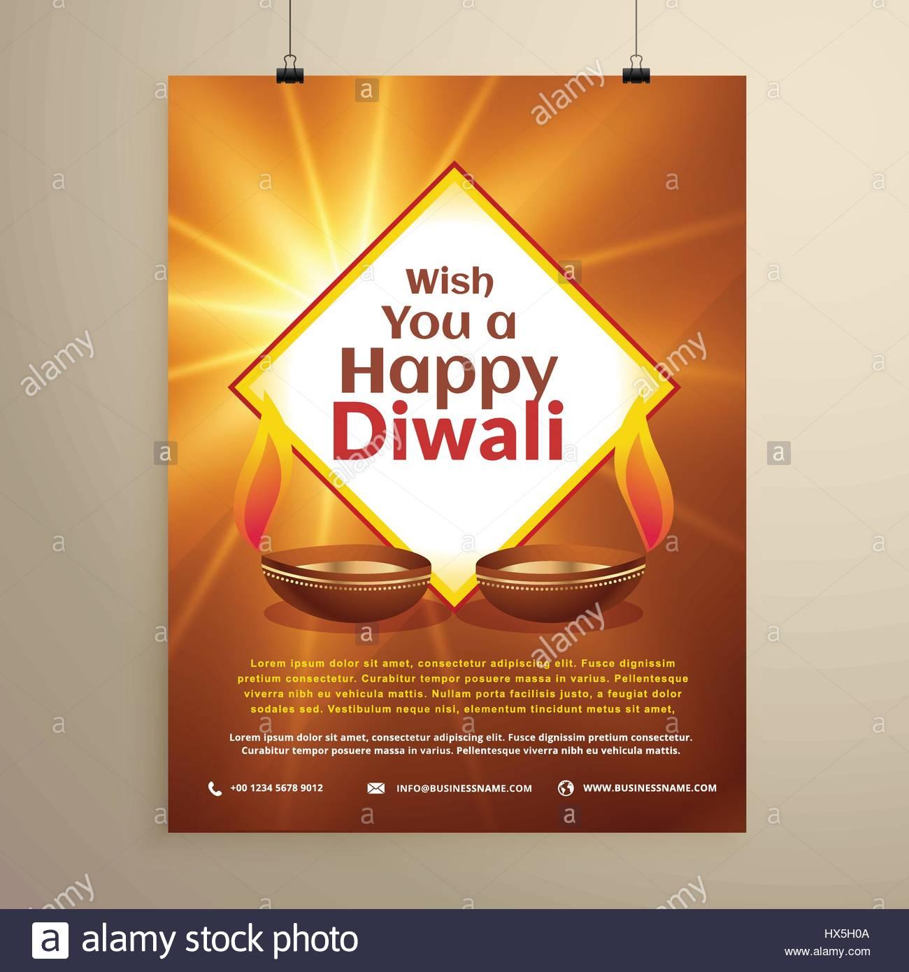 Indian festival of happy diwali greeting card flyer template stock indian festival of happy diwali greeting card flyer template m4hsunfo