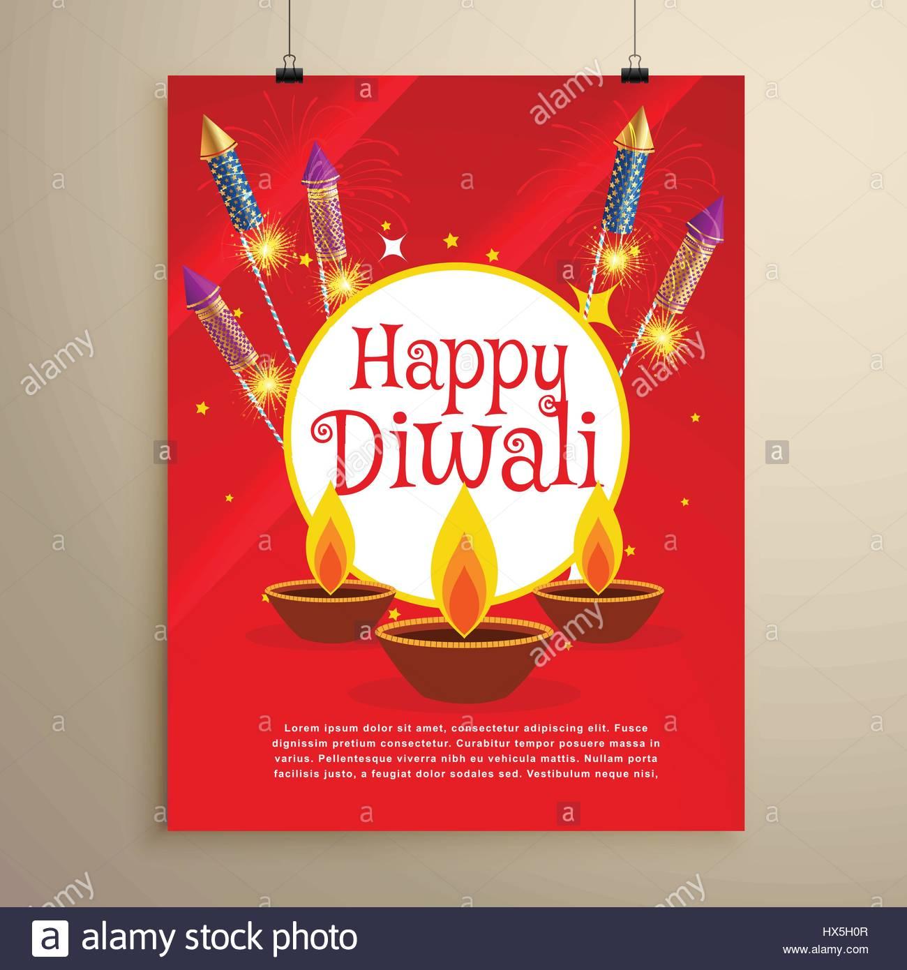 Happy diwali festival greeting card invitation template design stock happy diwali festival greeting card invitation template design stopboris Gallery