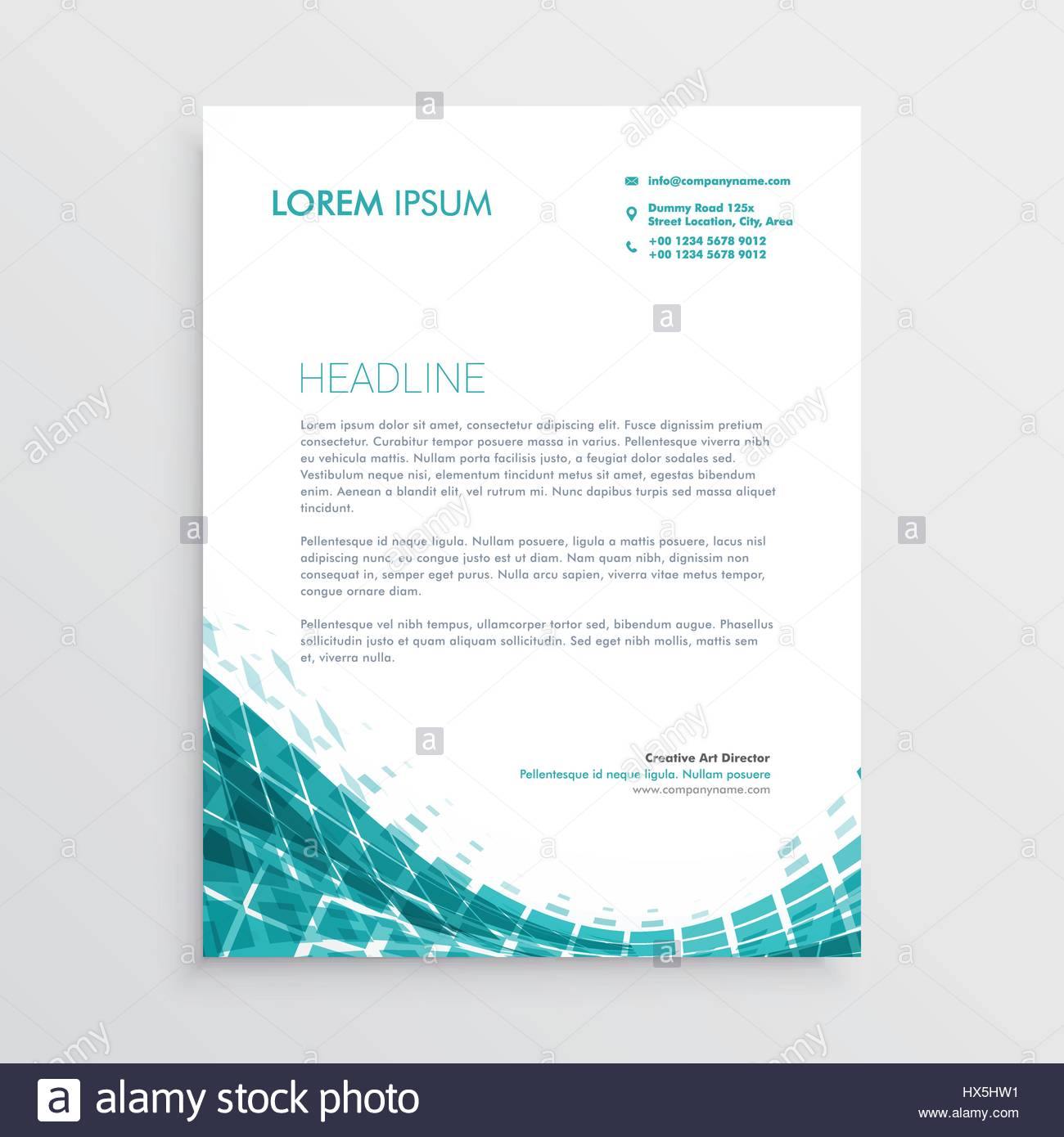 Creative letterhead design template with abstract blue shapes stock creative letterhead design template with abstract blue shapes spiritdancerdesigns Image collections