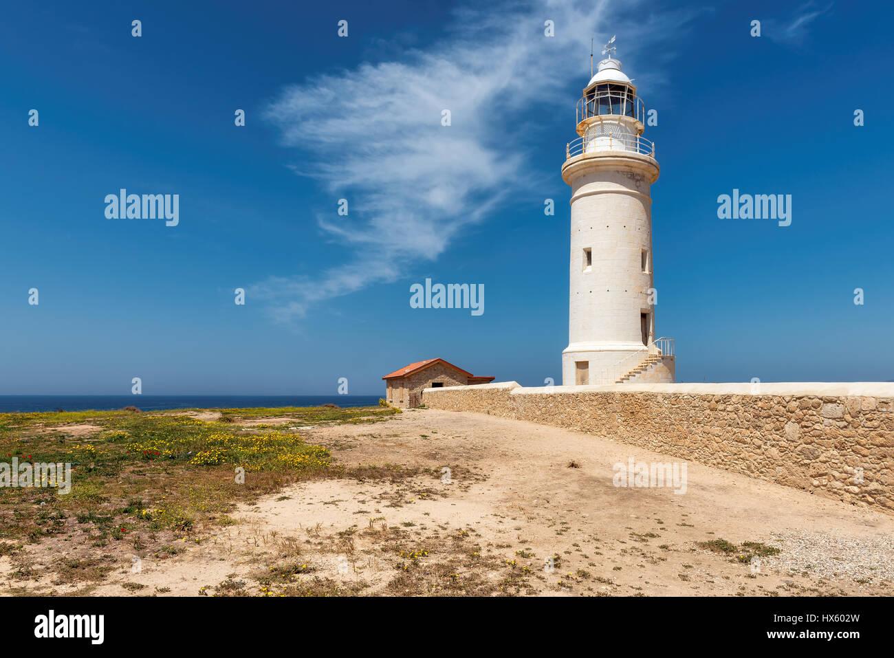 Cyprus Lighthouse, Paphos. - Stock Image