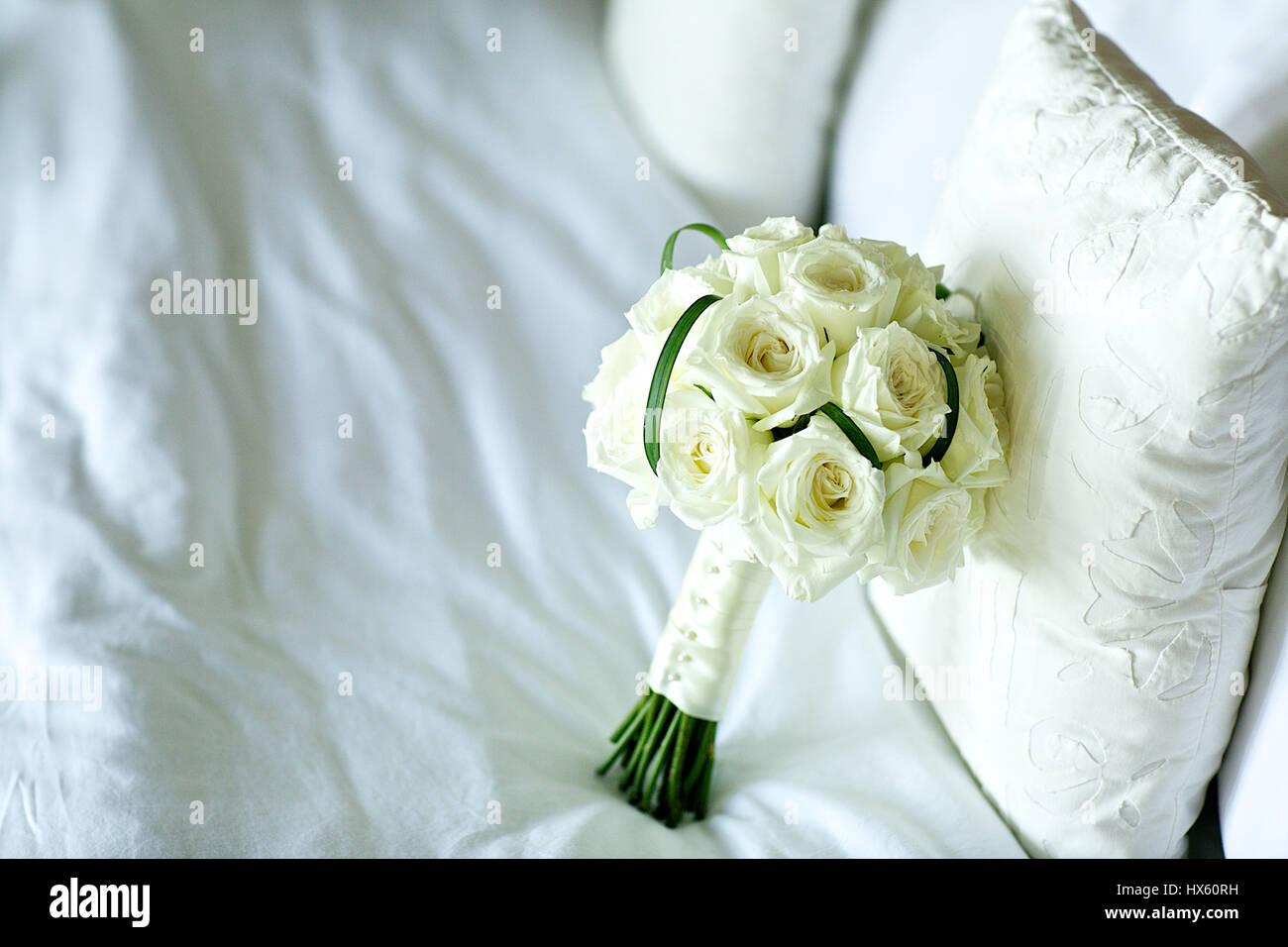 The bueatiful wedding bouquet of fresh flower stock photo 136586005 the bueatiful wedding bouquet of fresh flower izmirmasajfo
