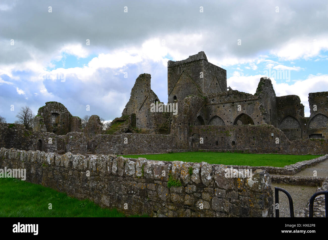 Old Benedictine abbey convereted to a Cistercian monastery in beside the Rock of Cashel. - Stock Image