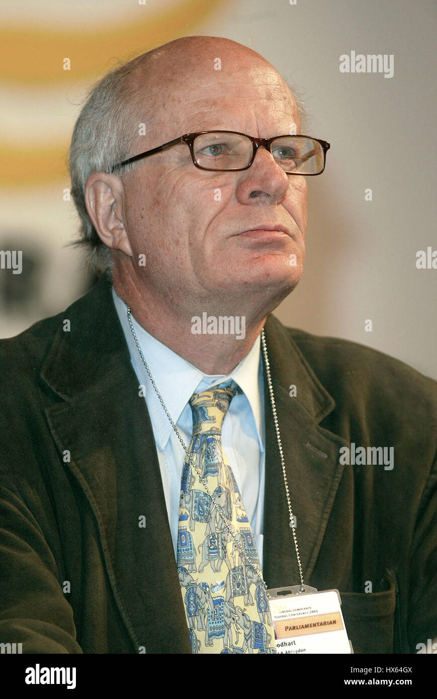 LORD GOODHART LIBERAL DEMOCRAT PARTY 24 September 2003 BRIGHTON ENGLAND - Stock Image