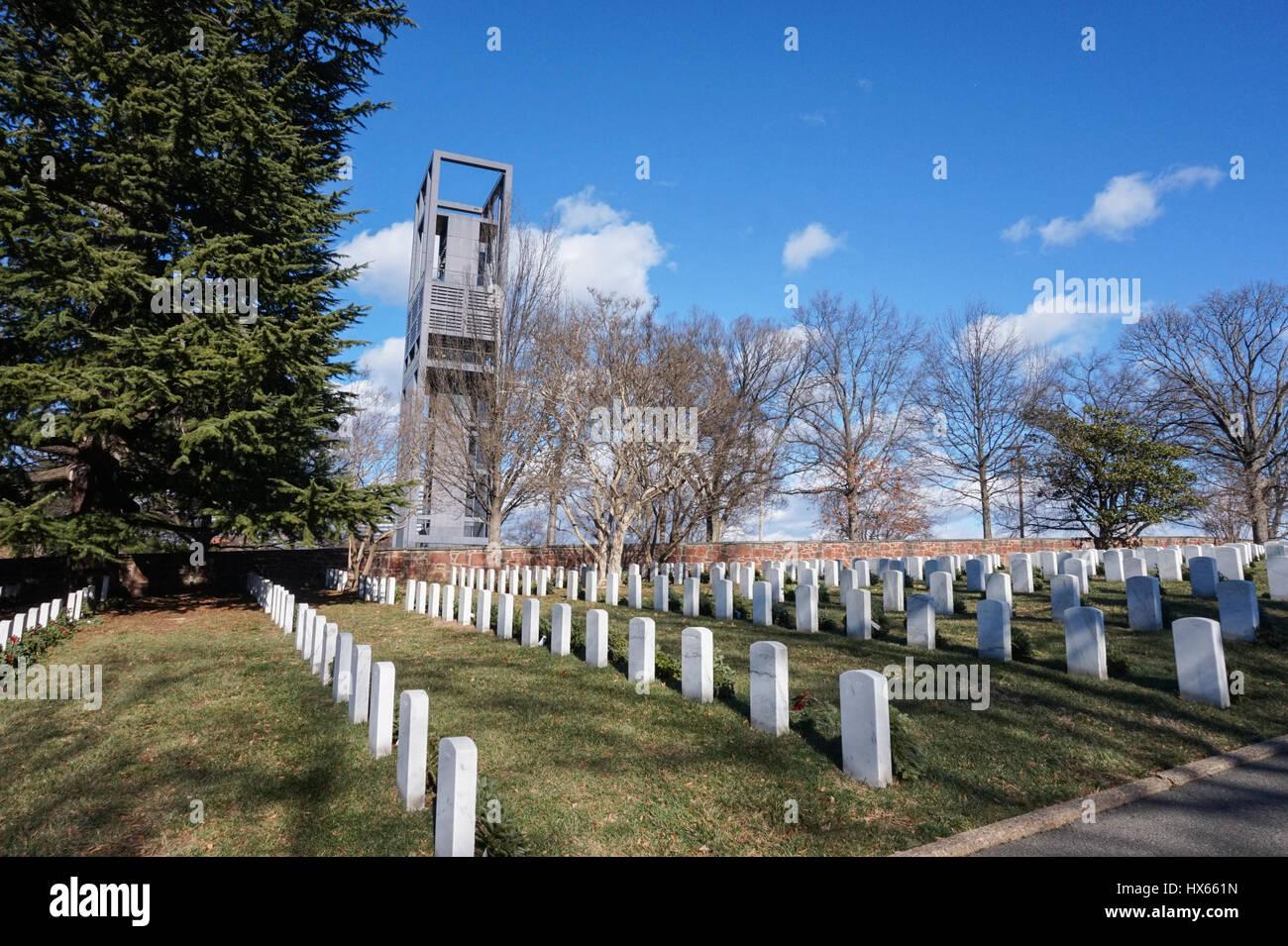 The Netherlands Carillon next to Arlington National Cemetery, Virginia, USA Stock Photo