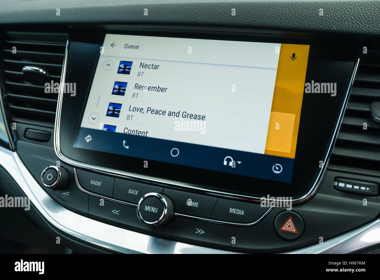 Android Auto Car Vehicle Navigation Interface Showing Google