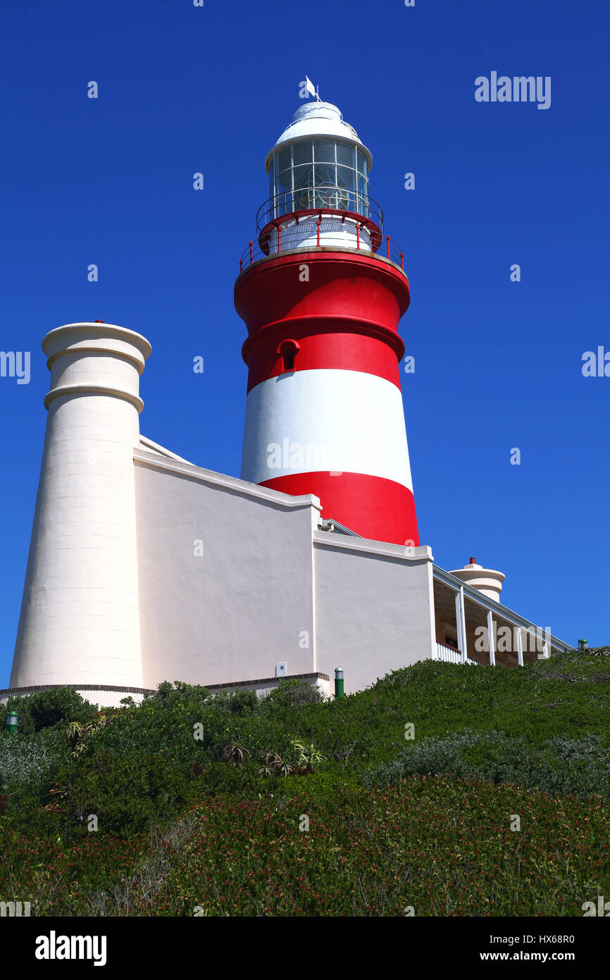 at Cape Agulhas in South Africa, the most southern point in Africa - Stock Image