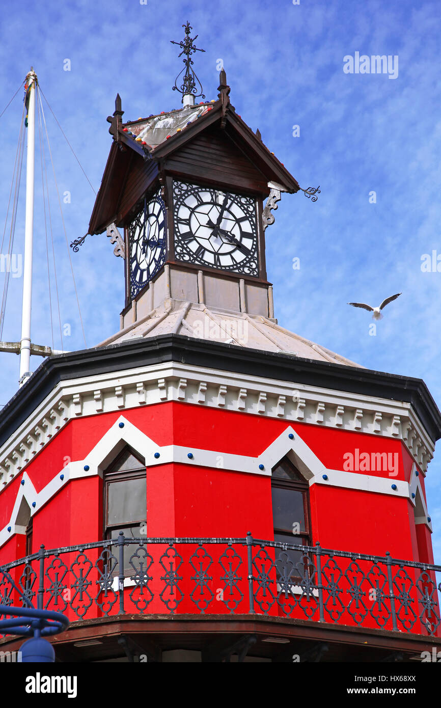 clock tower at the Waterfront, Cape Town, South Africa - Stock Image