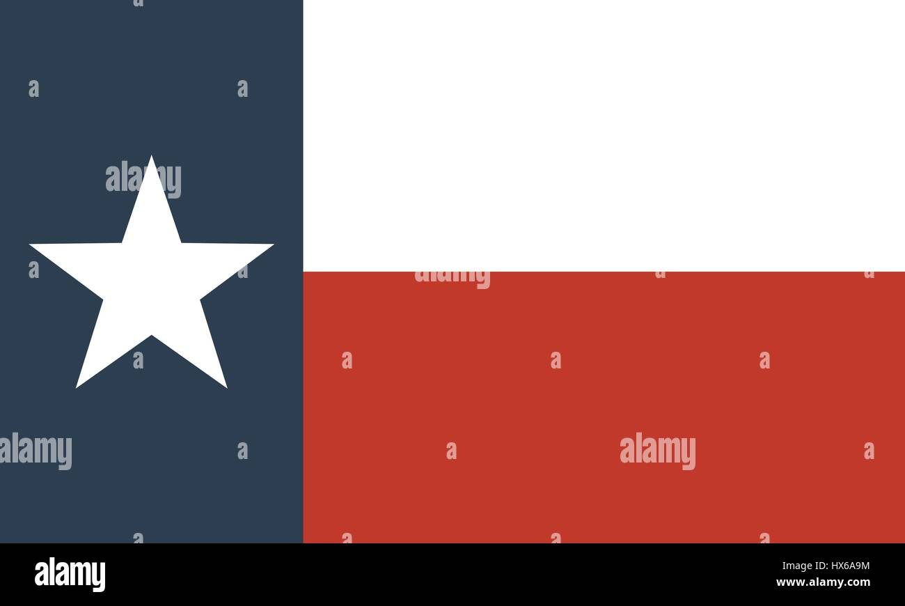 flag of the US state of Texas Stock Vector
