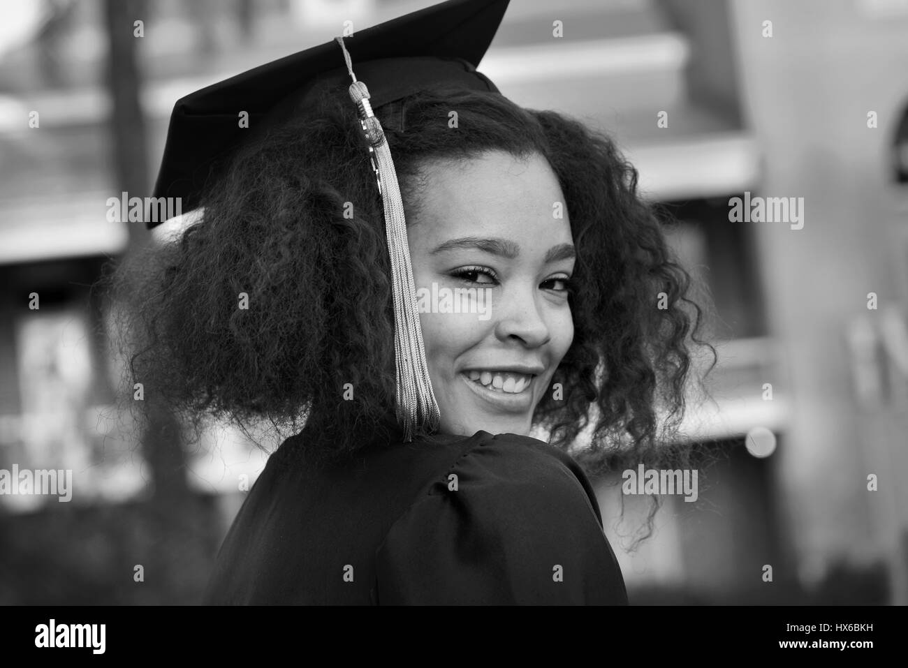 College graduate, business degree, University of Arizona, Tucson, Arizona, USA. - Stock Image