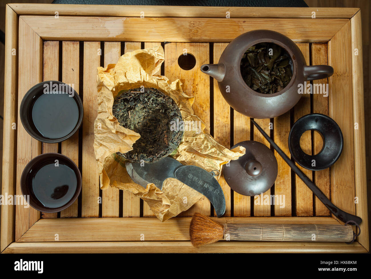 Shen Puer Chinese Tea Tuo Cha On Chaban (tea Table) Whis Tea Acessories In  Traditional Chinese Tea Ceremony
