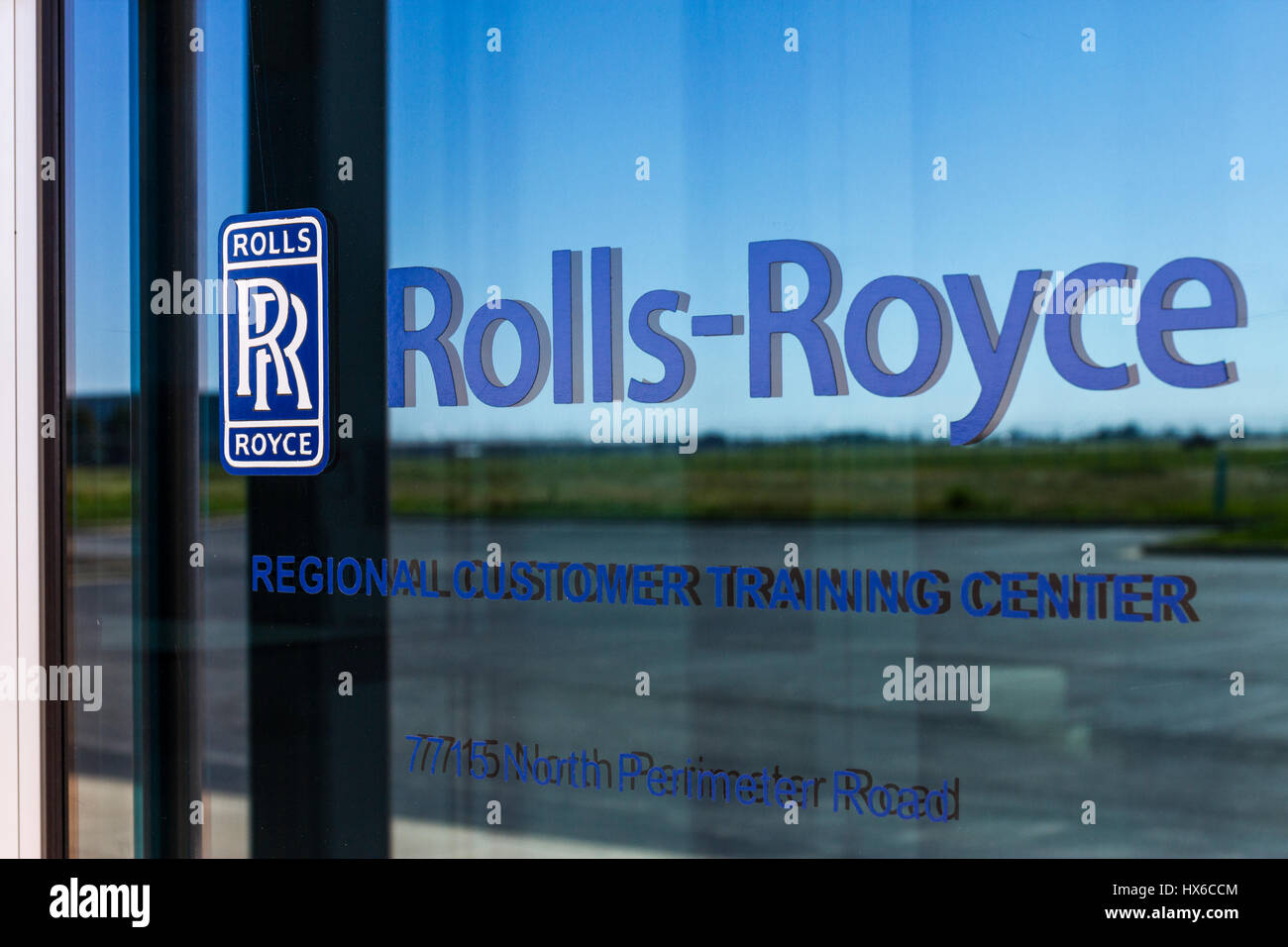 Indianapolis - Circa October 2016: Rolls-Royce Corporation Regional Customer Training Center. Rolls-Royce is a Global - Stock Image