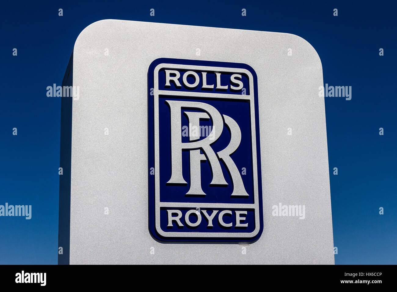 Indianapolis - Circa October 2016: Rolls-Royce LibertyWorks Logo and Signage. Rolls-Royce is a Global Company Providing - Stock Image