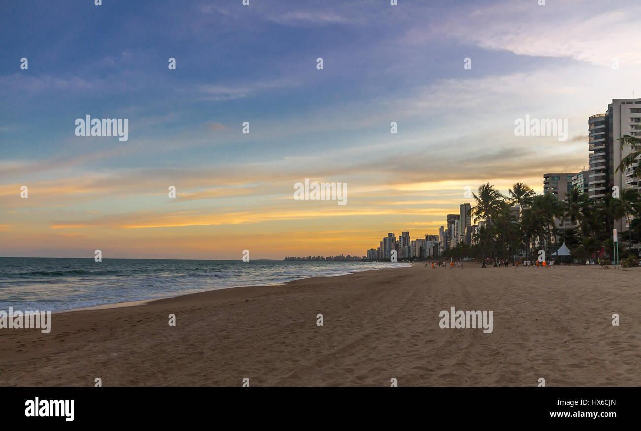 Boa viagem Beach in Recife - Pernambuco, Brazil - Stock Image