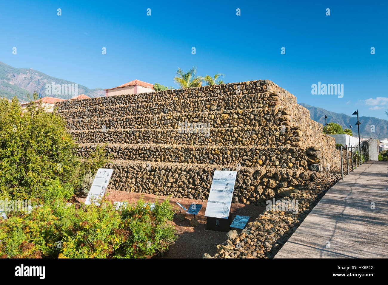 TENERIFE - OCTOBER 14: The ancient Pyramids of Guimar in Tenerife, Spain on October 14, 2014 - Stock Image