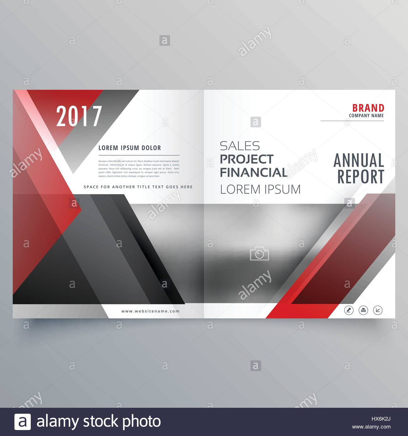 Brochure Magazine Cover Page Template Layout In Red And Black Shapes Stock Vector Image Art Alamy