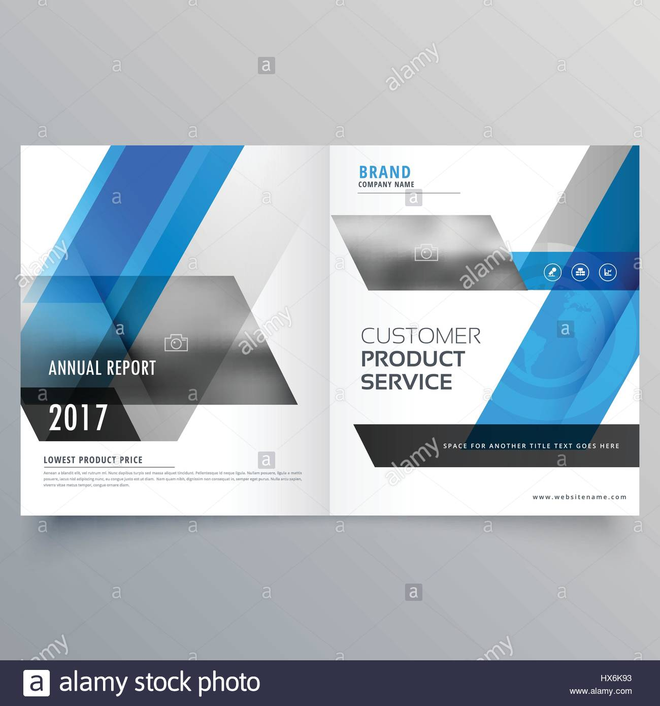 magazine cover page template layout with abstract shapes booklet