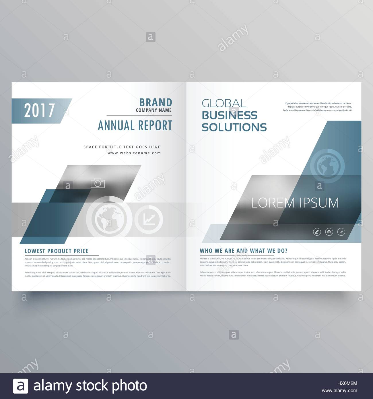 company business cover page bifold brochure template design stock
