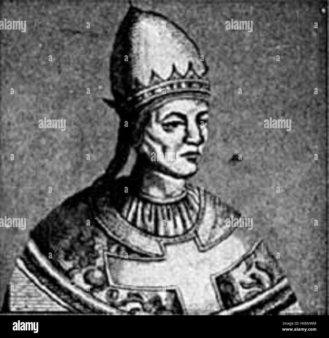 Pope Gregory VII - Stock Image