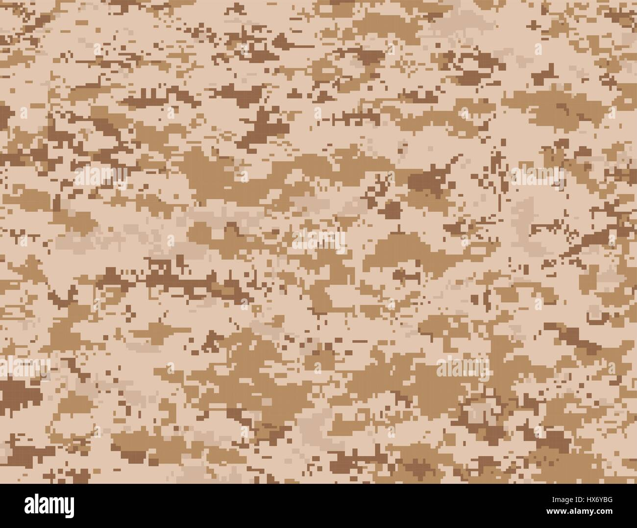 Vector texture of camel pixels camouflage for the desert - Stock Image