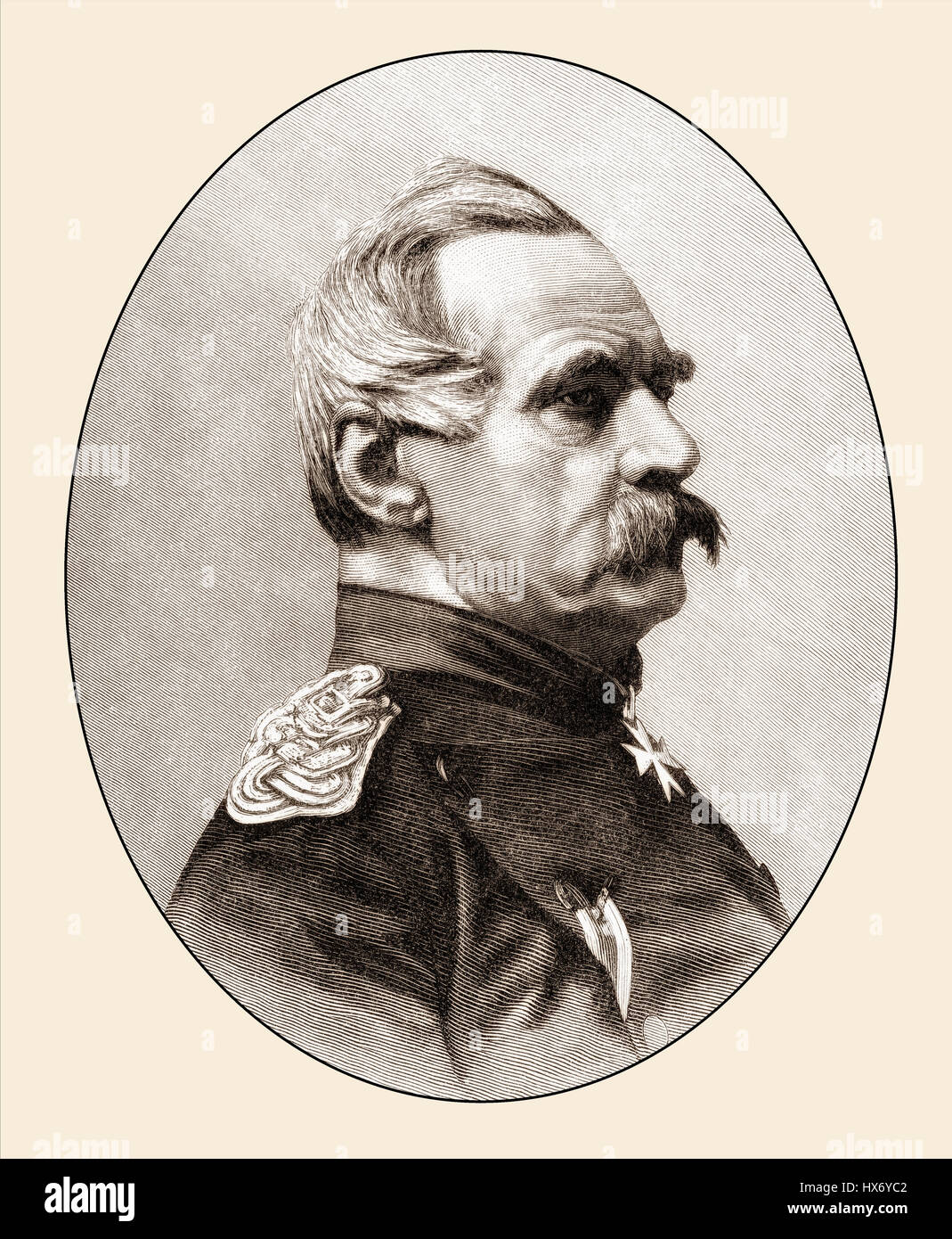 Albrecht Theodor Emil Graf von Roon, 1803-1879, Prussian politician, Field Marshal and Minister of War in the Franco - Stock Image